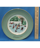 Vintage 1975 Enoch Wedgwood Collectors Plate Avon Christmas Skaters On T... - $6.92