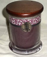EA4 COLD WATER CREEK wood-lidded vine candle jar with winterberry-scente... - $14.84