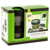 Ball Culinary Dry Herb 4-4 oz. Jars, 4 Count, Lock-open lid, Removable l... - $20.34