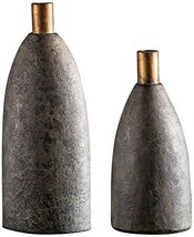 Uttermost 2-Pc Vase Set in Charcoal Finish - $250.80