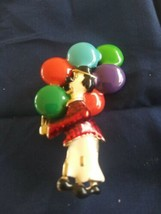 Vintage Enamel Hobo Clown With Colorful Balloons Pin Brooch - €7,19 EUR