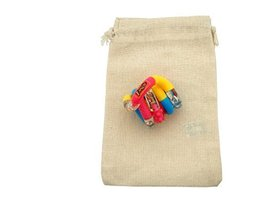 Pink Blue Yellow Tangle Jr. Textured Fidget Toy in Cotton Carry Bag - $7.87