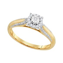 10k Yellow Gold Round Diamond Solitaire Bridal Wedding Engagement Ring 1... - £168.77 GBP