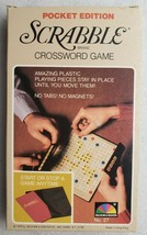 Scrabble Pocket Edition No 27 Selchow Righter 1978 Complete Excellent Co... - $17.81