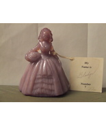 Vintage Boyd Crystal Art Glass Colonial Doll Gladys #7 & card 4 in.B mk - $22.95