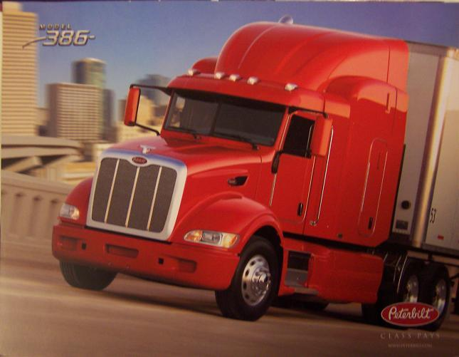 2007 Peterbilt 386 Sleeper Tractor Specs Brochure