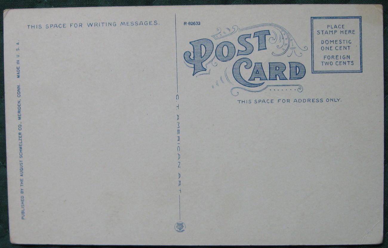 C-T American Art, August Schmelzer, Color Half-tone, Postcar
