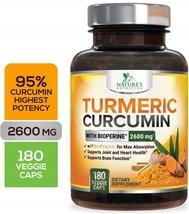 Nature's Nutrition Turmeric Curcumin 95% Curcuminoids 2600mg 180 Caps - $96.99