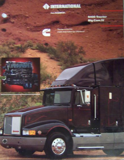 1989 International 9400 and Cummins Big Cam IV Engine Brochure Full Color