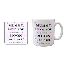 Mug and Coaster Gift Set - Mummy, Mothers Day Mum Birthday Anniversary Present - $22.17