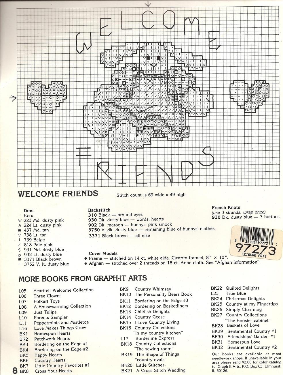 Homespun Love Cross Stitch Lynn Waters Busa Book 31