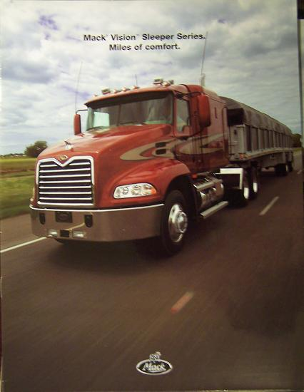 2004 Mack Vision Sleeper Tractors Brochure - Full Color
