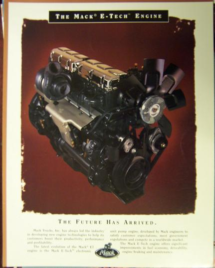 Mack E7 E-Tech Truck Engines Brochure - Full Color