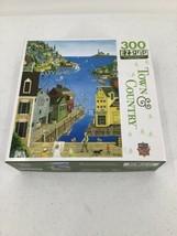 "MasterPieces A Walk On The Pier 300 Piece Puzzle 18"" x 24"" Big Pieces Folk Art - $8.59"