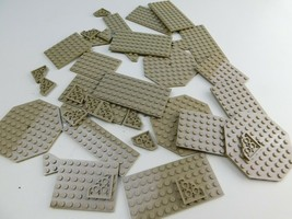 LEGO 36 pc Dark Tan Bulk Lot Part Baseplate Parts Specialty Plate Pieces - $24.74