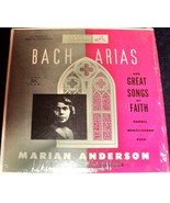 MARIAN ANDERSON: BACH ARIAS AND GREAT SONGS OF FAITH LP, RCA VICTOR CHAM... - $35.00