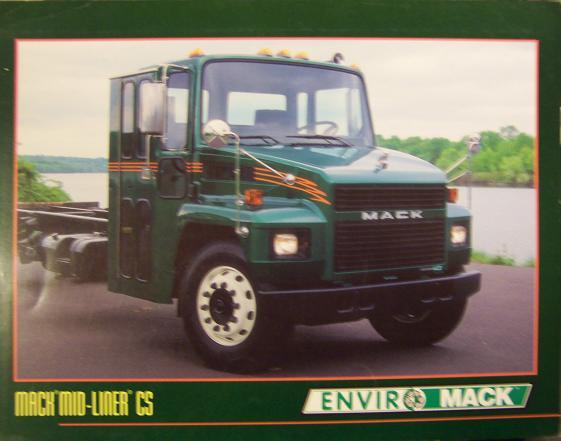 1994 Mack CS Mid-Liner Truck, EnviroMack Recycling Truck Lot of 2 Brochures