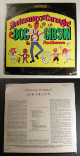 Primary image for BOB GIBSON Hootenanny at Carnegie 1957 RIVERSIDE LP SEALED 1963 pressing