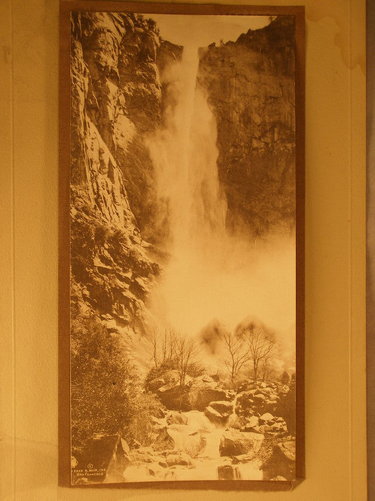 1914 Vintage Calendar & Original Photo of Yosemite Falls by Fred Bain (sku#1633)