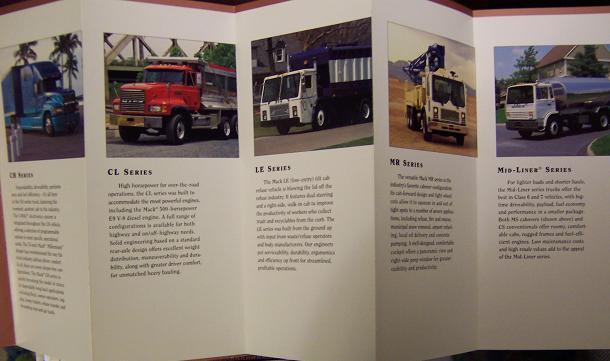 1997 Mack Full Line Folding Brochure - Full Color