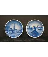 2 Royal Copenhagen Denmark Mini Collector Plates  Frelsers Kirke &Langeline - $16.00