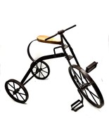 Home Decor Vintage Mini Crafted Metal Tricycle Bike Cycle Decorative 19x... - $59.39