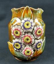 Antique Amphora Austria Majolica Art Nouveau vase flowers décor - $89.00