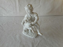 Rosenthal Germany Blanc De Chine BOY WITH LAMB Figurine #1666 - $112.50
