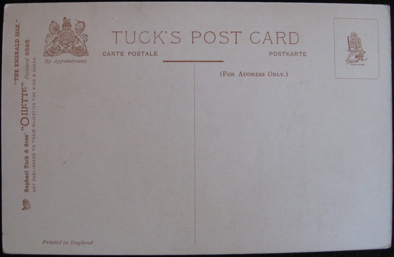 Tuck & Sons, Full Bleed postcard, St Patrick's Day, Greetings from the Emerald I