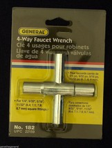 "New General Tools 4 Way Lawn Faucet Valve Sillcock Key 1/4"" 9/32"" 5/16"" 11/32"" - $9.49"