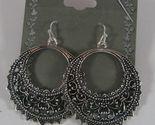 Half moon circle antiqued silver earrings 1 thumb155 crop