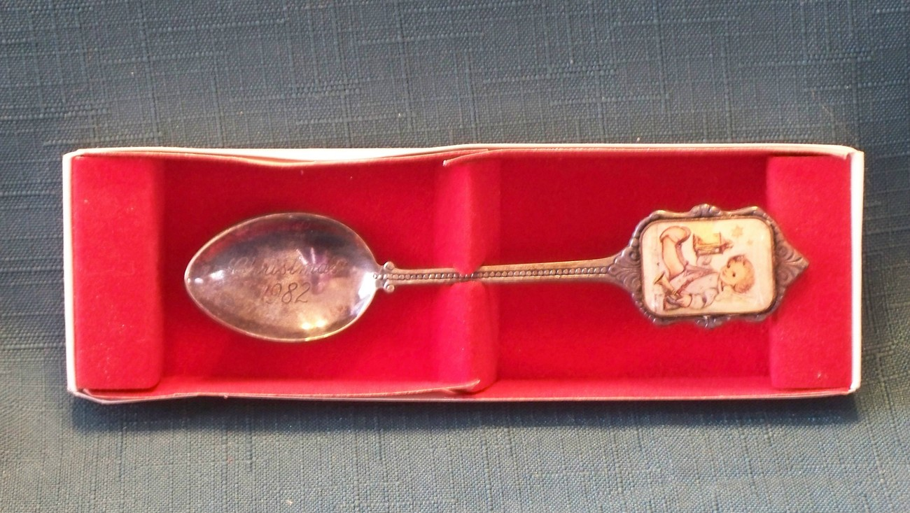 Hummel Silverplated 1982 Christmas Spoon With Box