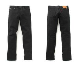 Levi's Strauss 511 Men's Premium Cotton Slim Fit Rigid Jeans Black 511-2154 image 3