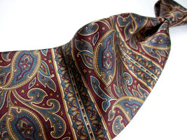 Nwt Bill Blass Brown/Gray Paisley Metallic Mens 100 Silk Necktie 8-1213B - $15.99