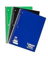 Spiral Bound College Ruled School Notebook - Pack of 3 - Colors Vary - $12.86