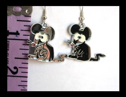 Cartoon Rat Earrings