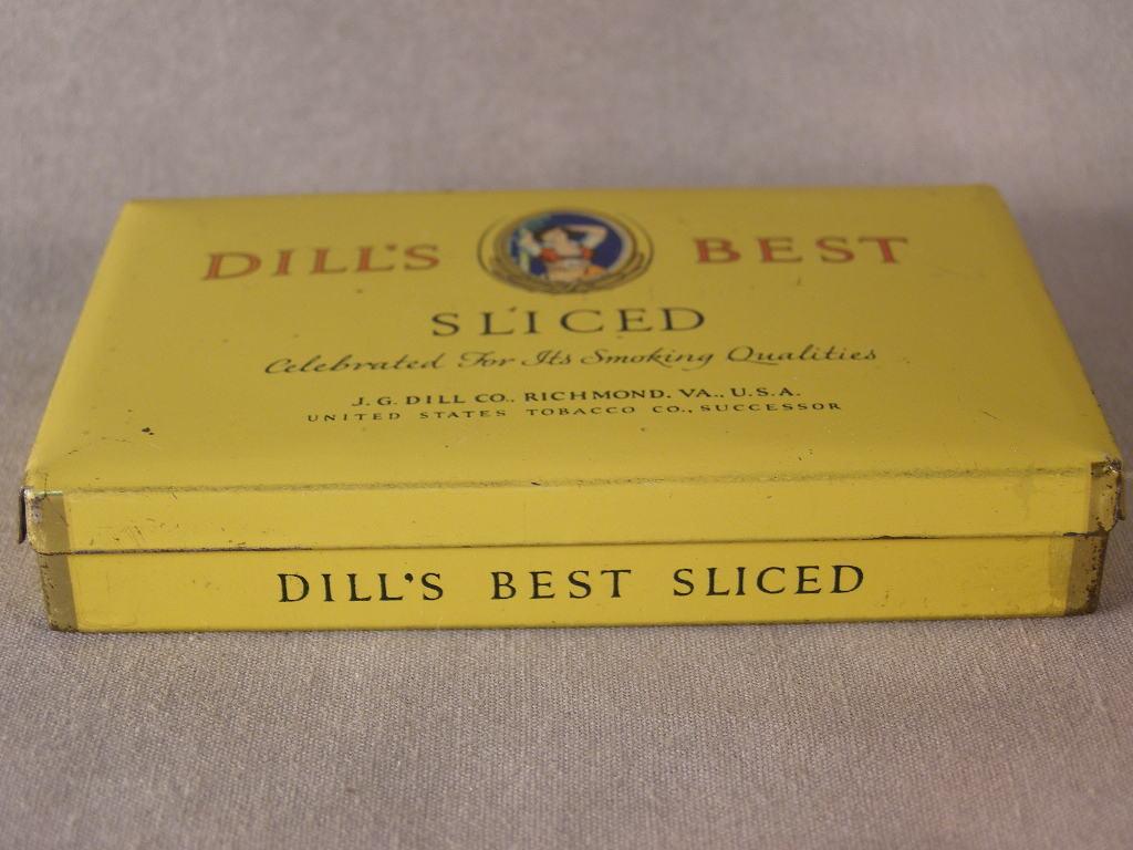 Dill's Best Sliced Tobacco Metal Tin - (sku#1636)