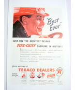 1946 Ad Texaco Fire-Chief Gasoline Best Ever - $7.99