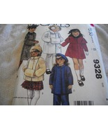 Child & Girl's Coat, Cape, Muff & Pants Pattern McCall's 9328 - $8.00