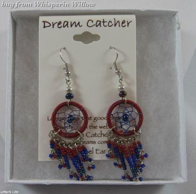 Native American Dream Catcher Dangle Earrings 2