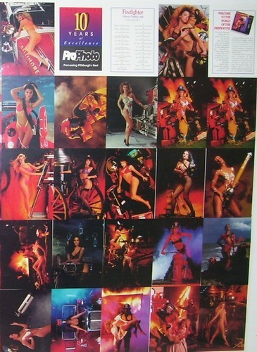 FACE THE FIRE Sexy Firefighter Mint Uncut 57 Card SHEET