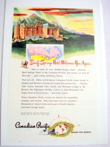 1946 Banff Springs Hotel Ad Canadian Pacific Resort - $7.99
