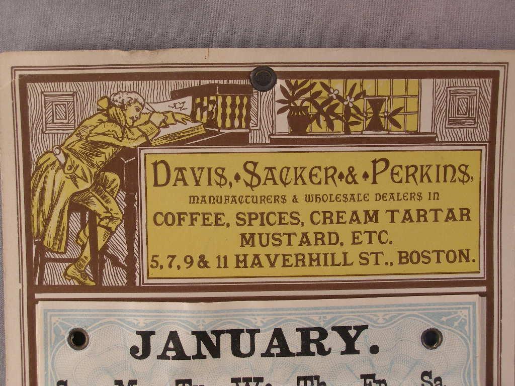 Rare 1881 Original Advertising Calendar (sku# 1638)