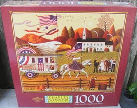 "Charles Wysocki's Americana 1000 Pc Puzzle "" Patriot's Day "" Factory Sealed - $15.00"