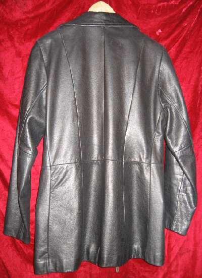 Womens Avanti 3/4 Black Leather Jacket Coat M $330