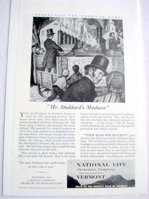 1949 Ad National Life Insurance Company Vermont