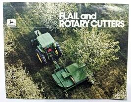 John Deere Vintage Color Brochure Flail & Rotary Cutters Shredders 70s 80s - $33.87