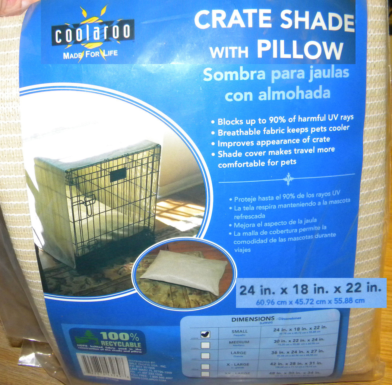 3 coolaroo crate shade w pillow