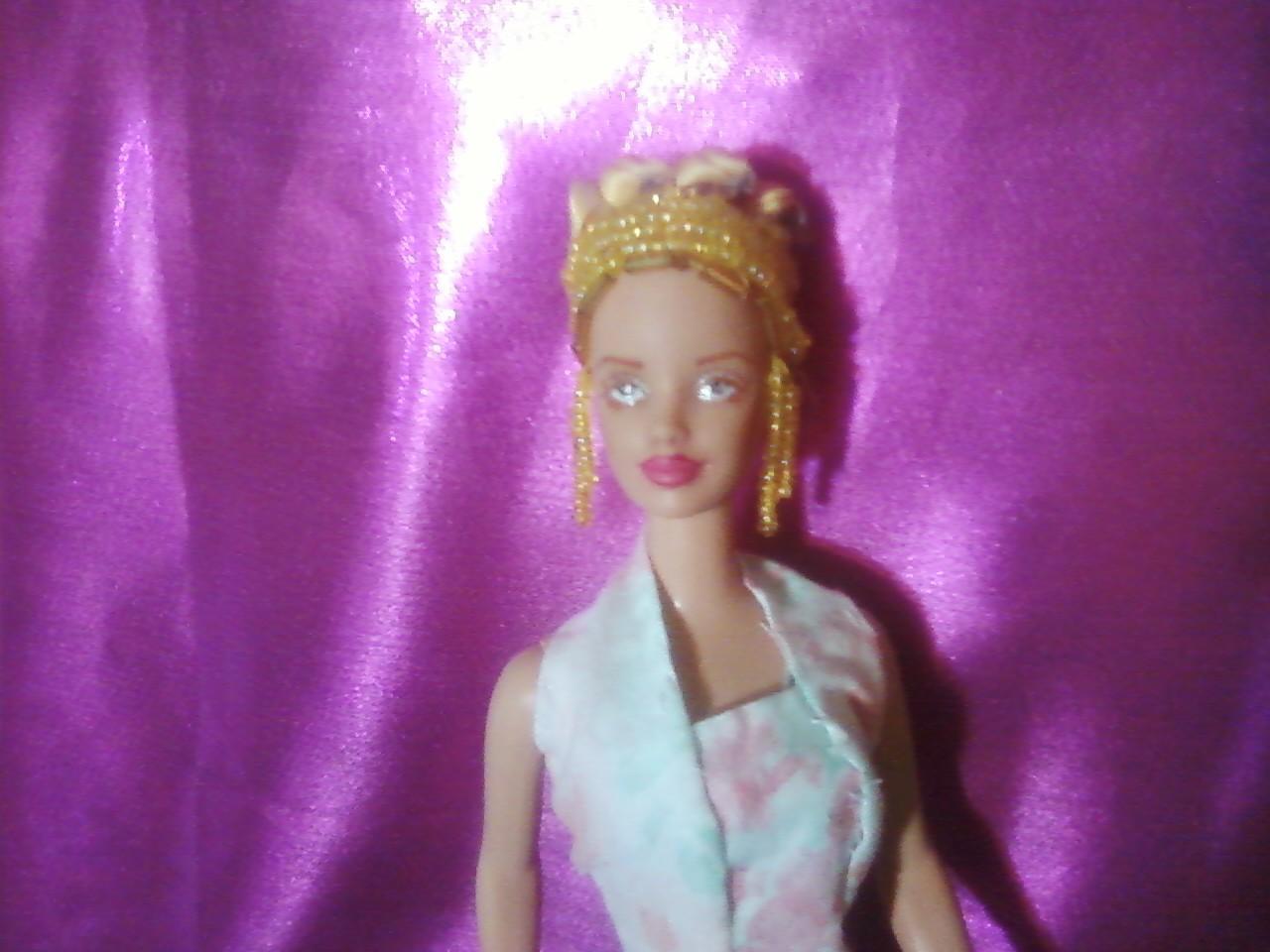 Beaded Hair Fashion Doll Rayna OOAK Refashioned Barbie