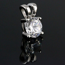 5mm Brilliant Ice on Fire Russian CZ Solitaire Pendant 925 Silver 0.5 carats - $13.00